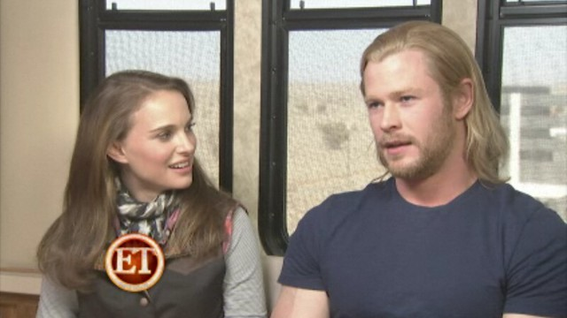 Thor Natalie Portman and Chris Hemsworth