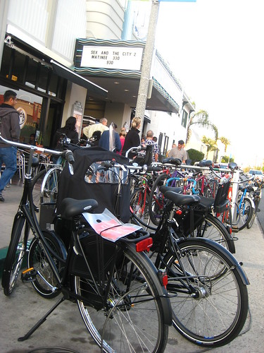 Batavus and Nihola bikes parked outside the screening of Riding Bikes with the Dutch on June 10, 2010