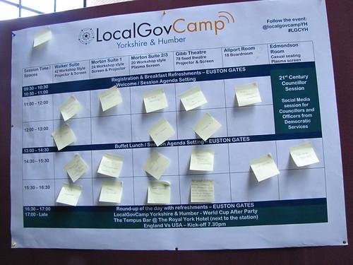 LocalGovCamp Yorkshire & Humber Programme