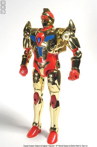 Superhuman Samurai Syber-Squad - 9inch Metal Samurai Data Matrix Servo