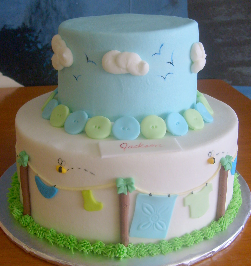 Baby Clothes Baby Shower Cake ...