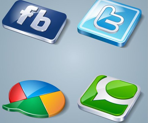 icones, redes sociais, twitter, facebook