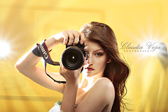 Hunting high and low (claudiaveja) Tags: camera light woman girl beautiful yellow lens photography lights shoot ray photographer shot bare flash hunting longhair posing romania prints shooting setup lit twincities transylvania seductive strobe clujnapoca monolight royaltyfree lightingsetup rightsmanaged eveniment claudiaveja corporateevent photosessions strobist lightsetting setupstrobist fotocluj licenseimages