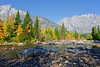 Cottonwood Creek (bhophotos) Tags: travel autumn trees usa mountains nature leaves yellow creek landscape geotagged nikon day clear wyoming tetons grandtetonnationalpark jennylake cottonwoodcreek d700 2470mmf28g projectweather pwfall
