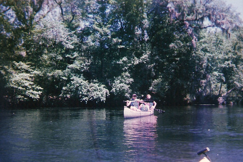 Canoing on the river