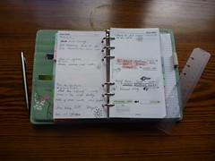 My first filofax week. (e.drinkall) Tags: pen handwriting notebook notes personal diary button week doodles filofax songbird organiser organised myweek aweekinmylife