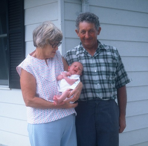 1979  my husband's parents with our firstborn
