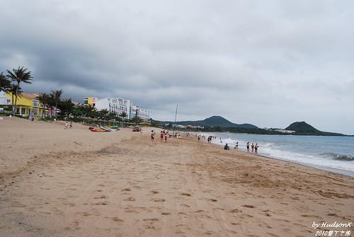 陰天的海灘很沒fu!