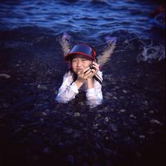 summer kid (youngdoo) Tags: film iso100 holga toycamera korea southcoast fujichrome provia  holgagcfn byyoungdoo mongdolpebblebeach