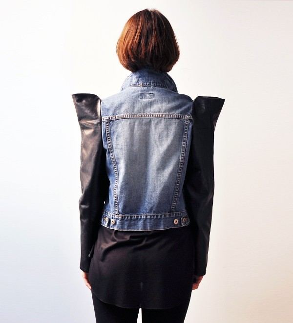 ETSY leather and denim jacket by LeilanniLand 2