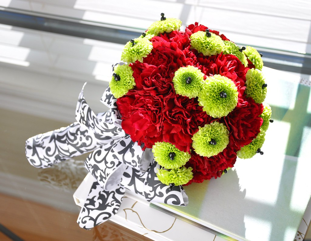 Hand Held Bouquet With Carnations