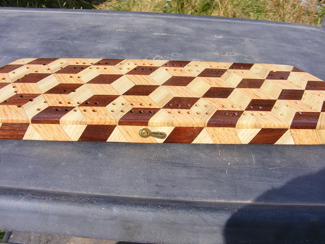 Making a Tumbling Block Cribbage Board #36