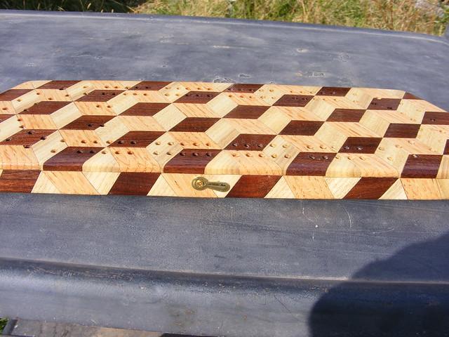 Making a Tumbling Block Cribbage Board #36
