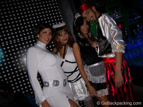 Motley crue: Princess Lea, naughty nurse, french maid, pirate!