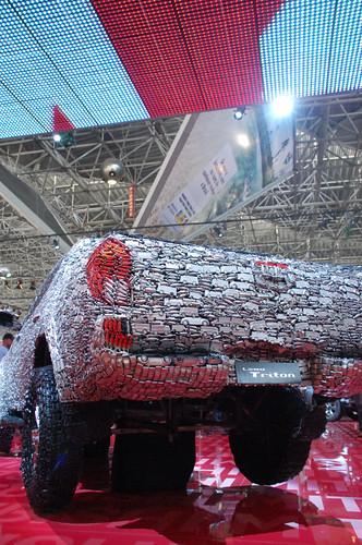 Mitsubishi L200 Savana. Mitsubishi L200 Savana made by toy car. Salão do Automovel SP 2009
