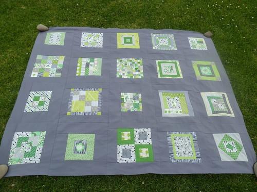 Green & Grey Quilt #1