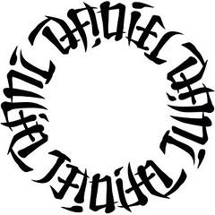 """""""Daniel"""", """"Dani"""", """"Julia"""" & """"Janita"""" Circle Ambigram"""