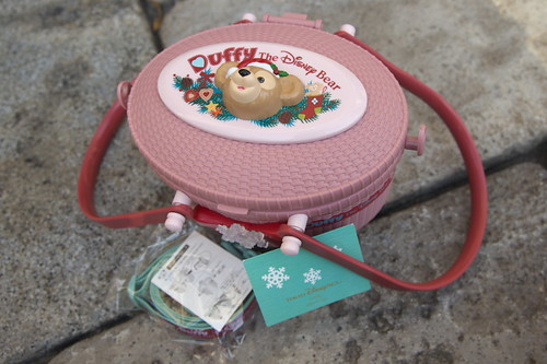 ダッフィーポップコーンバケット(2010年冬ピンク色)