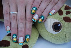 (EXPLORED) Tartaruguinha (Rubia Olivo ~ Nail Art) Tags: pokemon tartaruga tutorial francesinha