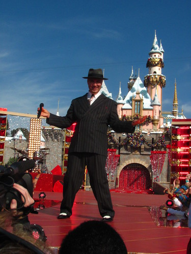 Scotty Morris from Big Bad Voodoo Daddy does some takes throwing it to Walt Disney World