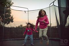 (Rhea Quitasol | Photography) Tags: california autumn motion fall kids sisters children fun 50mm jump jumping nikon play action outdoor naturallight trampoline nikkor visalia d7000 rheaquitasol