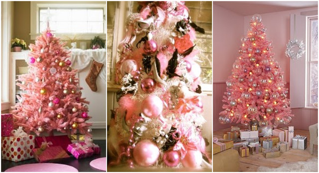Pink Tree Collage