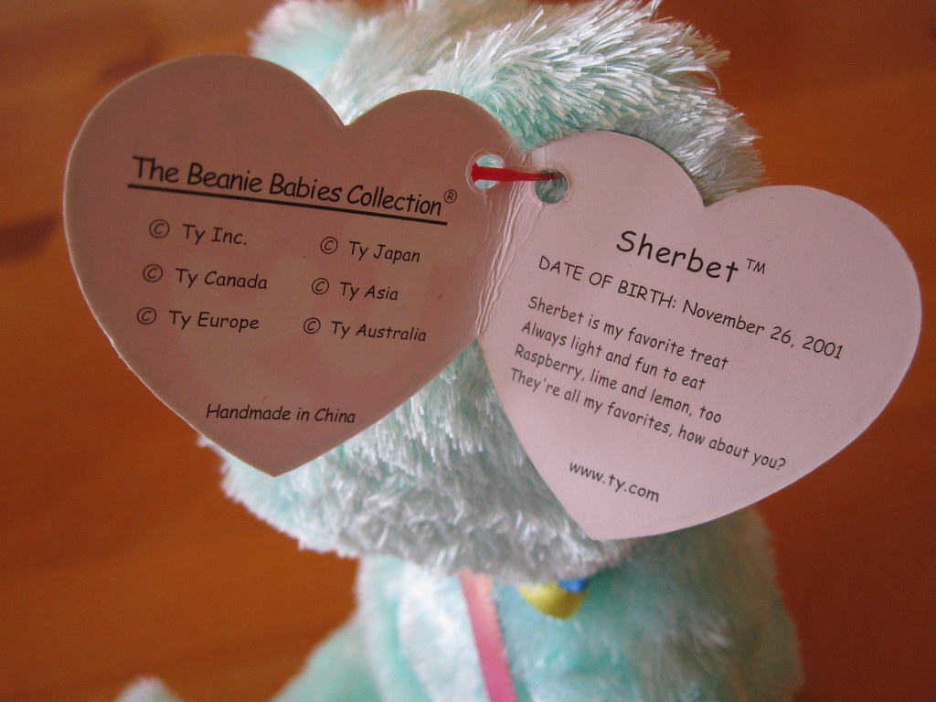 Ty Sherbet Beanie Baby Hang Tag (jessicagreen0202) Tags  baby babies  buddies buddy collection d38f8f332491