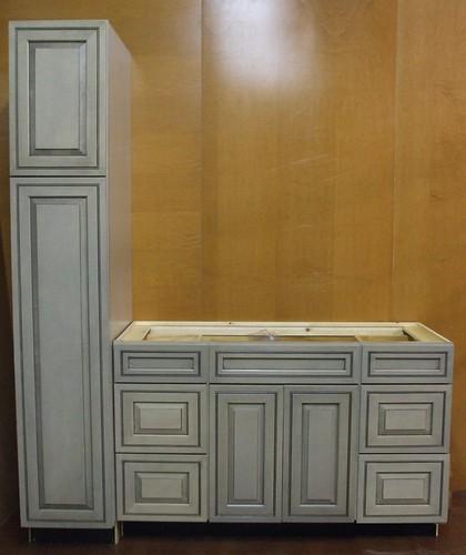 Kraftmaid Pewter Maple Bathroom Vanity Sink Cabinet 69 Quot Ebay