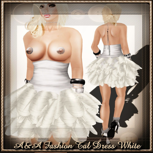 A&A Fashion Tal Dress White