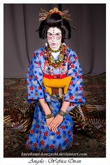 Angola - Wafrica Oiran (Kurokami) Tags: kimono japan japanese asia asian woman women girl girls lady ladies kitsuke angola angolan wafrica oiran maiko geiko geisha tayuu yukata africa african himba momuia katsura oshiroir shironuri bead beads beaded kanzashi 2017 anime north fashion show
