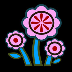flowers 6 icon (kwippe) Tags: icons clipart vector