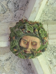 Green Man (Aidan McRae Thomson) Tags: salle church norfolk roofboss bosses carving medieval greenman