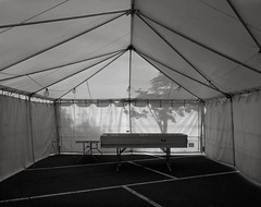 In a Tent, Beaverton (austin granger) Tags: tent beaverton oregon empty canvas fireworks structure support shadow inside shelter evidence geometry 4thofjuly parking lines film largeformat chamonix