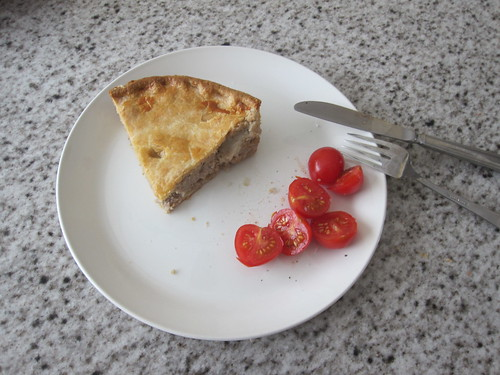 Tourtière and tomatoes