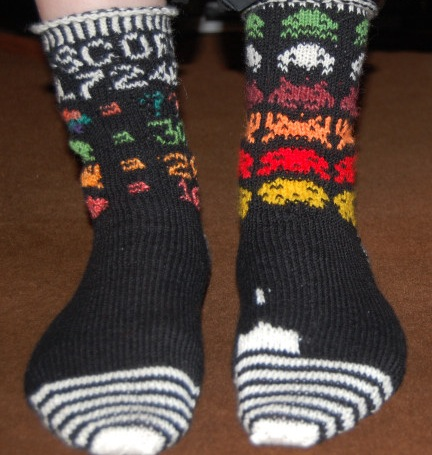 Knit a Pair of Space Invaders Socks With This Free Pattern!