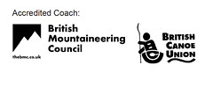 Accredited Coach British Mountaineering Council and Canoe Union
