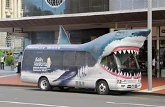 'Shark' Bus to Kelly Tarlton's - Auckland, New Zealand (waynedunlap) Tags: world new travel bus shark escape plan auckland your zealand kelly kiwi now zeland gurus tarlton unhook tarltons unhooknow