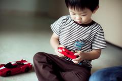 VROOOM! (garygraphy) Tags: boy red car race kid focus child play control ethan remote 50mmf12l 5dmarkii