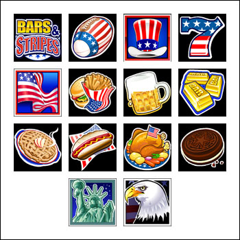 free Bars and Stripes slot game symbols
