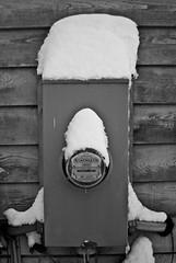 Electric Meter Snow
