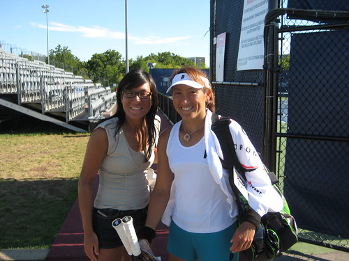 Ai Sugiyama and me after her training at Toronto Rogers Cup