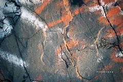 Persevere (Frank Scallo) Tags: beach rock 50mm graffiti coast nikon shore granite inlet nikkor cracked bside d700