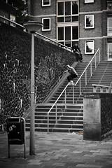 Pascal - Soul (Bojd) Tags: street bw amsterdam tan rail spot skate soul handrail inline trick pascal amstel rollerblader skatespot skatespots