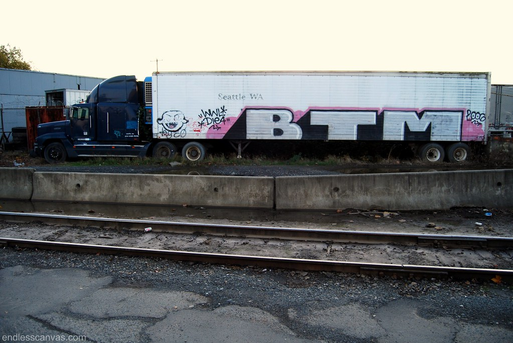 BTM Truck Graffiti Seattle Washington 2006.
