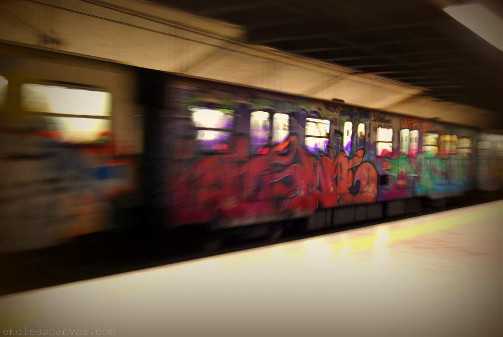Metro Subway Graffiti Pieces in Rome Italy.
