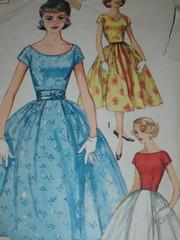 1950s Vintage Simplicity Pattern 2491 (Bobbins and Bombshells) Tags: fashion vintage dress sewing 1950s simplicity fullskirt vintagepattern 2491