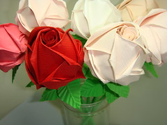 Paper Roses (The Gift of Gifts) Tags: flower art leaves rose lady paper stem origami happiness gift thankful valentines grateful kindness 1001nights valentinesday kawasaki sincerity kawasakirose paperrose diamondrose origamiflower origamirose  artrose rosasdepapel  livrerose  happinessrose papierrose giftofgifts giyhng giftofgift giftofgiftsrose  rosadicarta piparardaigh roseenpapier papierstieg papprrose   paprovre papierrosen    rosedicarta  kertasmawar katgller  papirrua paprrzsa  letrrose raamatrose piparrose    cartearose rose karatasirose papperrose papurrose