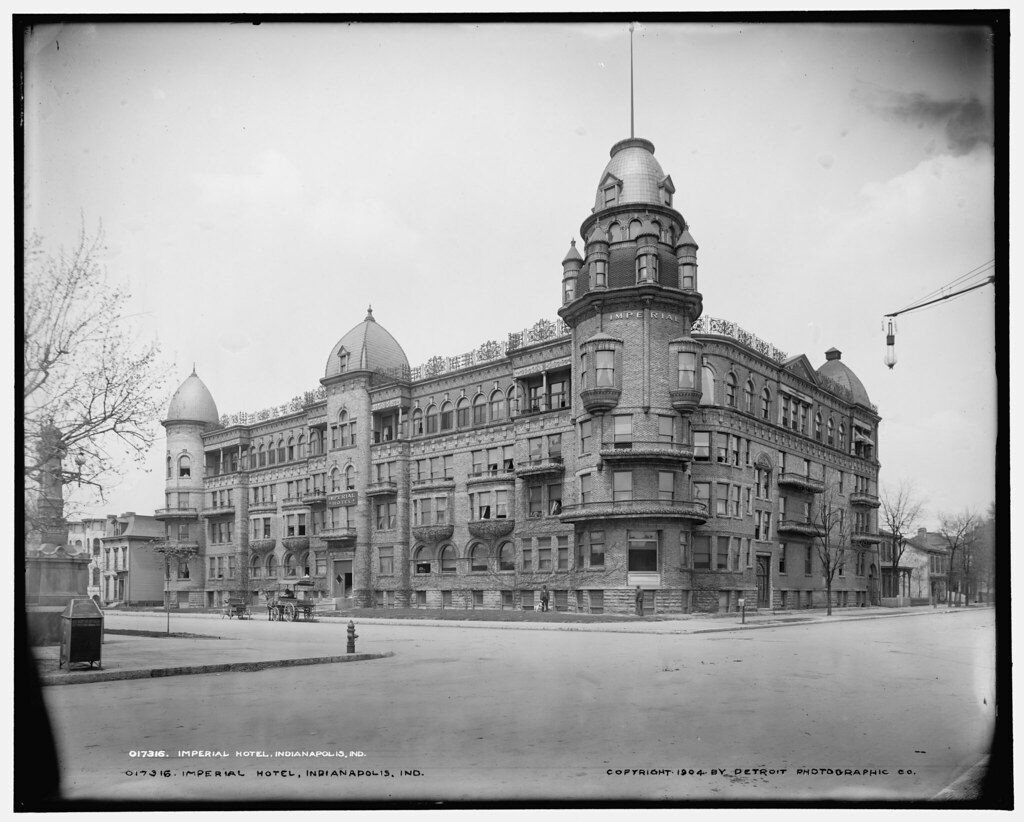 Imperial Hotel (aka National Surgical Institute), Indianapolis (demolished) from LOC
