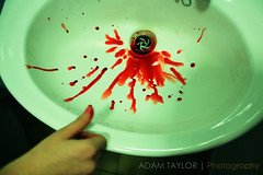 ~ Blood ~ (ADAM TAYLOR | Photography) Tags: hand hands human people person blood bleed bleeds bloody bleeding finger fingers thumb cut cuts scar scars sink bathroom canon eos 450d dslr slr digital photography colour colours color colors tone tones lighting lincoln uk united kingdom gb great britain university universityoflincoln uni cinematic cinematicphotography cinematicphotograph