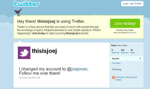 twitter oficial joe jonas